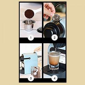 Set capsule ricaricabili compatibili Nespresso (acciaio) + Kit assaggio
