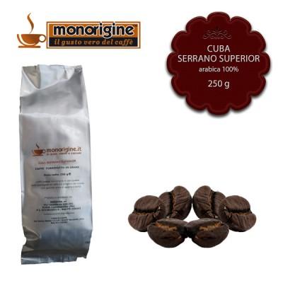 Caffè Arabica in grani Cuba Serrano Superior - 250 gr