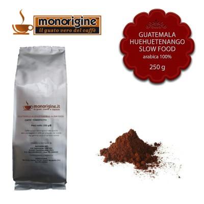 Caffè Arabica macinato per espresso - Guatemala Huehuetenango Slow Food - 250 gr