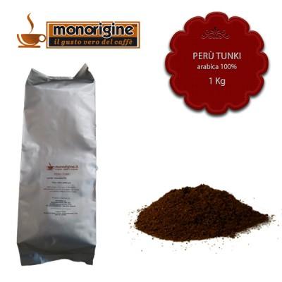 Caffè Arabica macinato per espresso Peru Tunki - 1 Kg