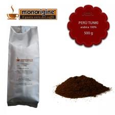 Caffè Arabica macinato per moka Peru Tunki - 500 gr