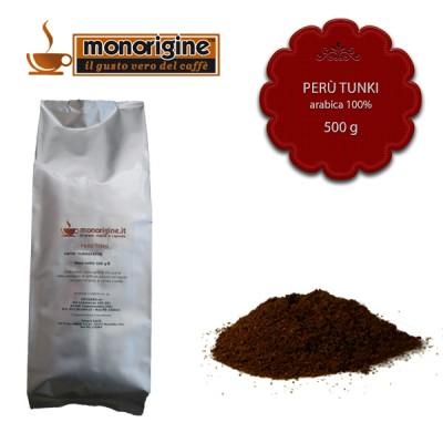 Caffè Arabica macinato per espresso Peru Tunki - 500 gr