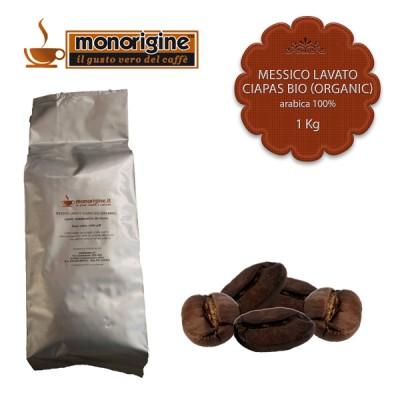 Caffè Arabica Biologico in grani Messico Lavato Ciapas BIO (Organic) - 1 Kg
