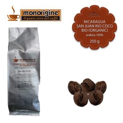 Caffè Arabica Biologico in grani Nicaragua San Juan Rio Coco BIO (Organic) - 250 gr