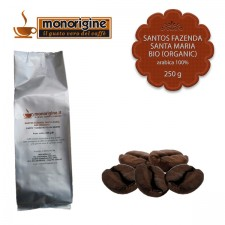 Caffè Arabica Biologico in grani Santos Fazenda Santa Maria BIO (Organic) - 250 gr
