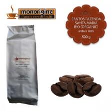 Caffè Arabica Biologico in grani Santos Fazenda Santa Maria BIO (Organic) - 500 gr