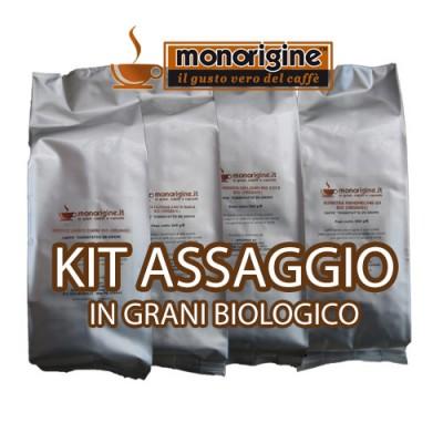 Kit assaggio 4 x 500 gr - caffè in grani Biologico