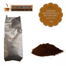 Caffè Arabica Biologico macinato per Nescafé Dolce Gusto e Nespresso - Sumatra Mandheling G1 BIO (Organic) - 1 Kg