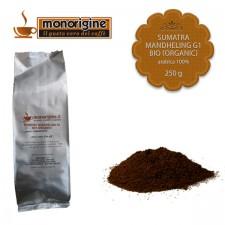 Caffè Arabica Biologico macinato per Nescafé Dolce Gusto e Nespresso - Sumatra Mandheling G1 BIO (Organic) - 250 gr