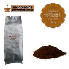 Caffè Arabica Biologico macinato per Nescafé Dolce Gusto e Nespresso - Sumatra Mandheling G1 BIO (Organic) - 500 gr