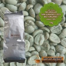 Caffè Verde Arabica Biologico in grani Nicaragua San Juan Rio Coco BIO (Organic) - 1 Kg