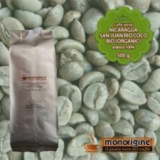 Caffè Verde Arabica Biologico in grani Nicaragua San Juan Rio Coco BIO (Organic) - 500 gr