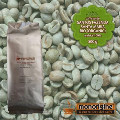 Caffè Verde Arabica Biologico in grani Santos Fazenda Santa Maria BIO (Organic) - 500 gr