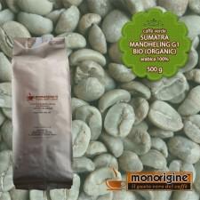 Caffè Verde Arabica Biologico in grani Sumatra Mandheling G1 BIO (Organic) - 500 gr