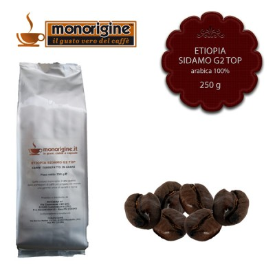 Caffè Arabica in grani Etiopia Sidamo G2 Top - 250 gr