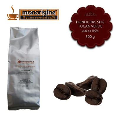 Caffè Arabica in grani Honduras SHG Tucan Verde - 500 gr