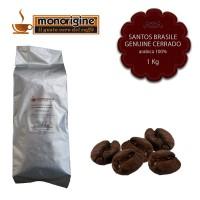 Caffè Arabica in grani Santos Brasile Genuine Cerrado - 1 Kg