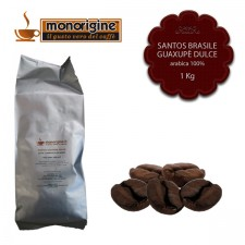 Caffè Arabica in grani Santos Brasile Guaxupè Dulce - 1 Kg