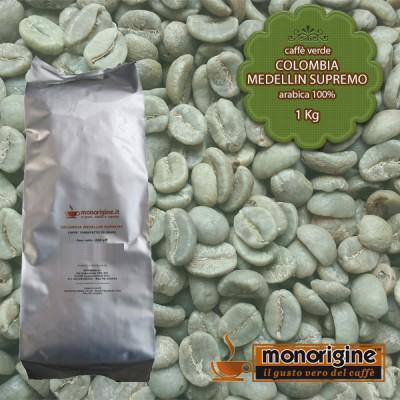 Caffè Verde Arabica in grani Colombia Medellin Supremo - 1 Kg
