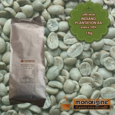 Caffè Verde Arabica in grani Indiano Plantation AA - 1 Kg