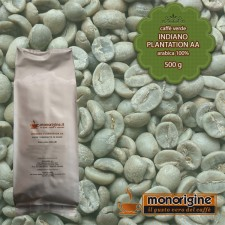 Caffè Verde Arabica in grani Indiano Plantation AA - 500 gr