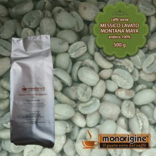 Caffè Verde Arabica in grani Messico Lavato Montana Maya - 500 gr