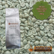 Caffè Verde Arabica in grani Perù Cuzco - 250 gr