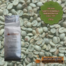 Caffè Verde Arabica in grani San Domingo Barahona AA - 250 gr