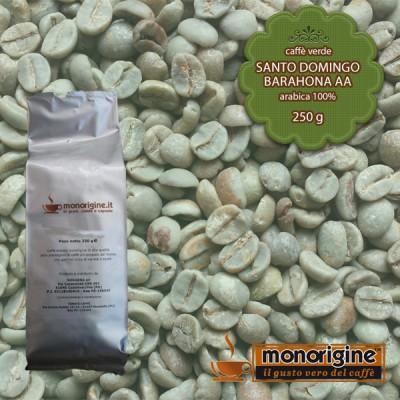 Caffè Verde Arabica in grani Santo Domingo Barahona AA - 250 gr