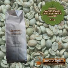 Caffè Verde Arabica in grani Santos Brasile Genuine Cerrado - 500 gr
