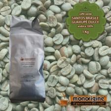 Caffè Verde Arabica in grani Santos Brasile Guaxupè Dulce - 1 Kg