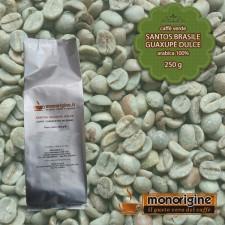 Caffè Verde Arabica in grani Santos Brasile Guaxupè Dulce - 250 gr