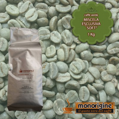 """Caffè Verde in grani Miscela Esclusiva """"Soft"""" - 1 Kg"""