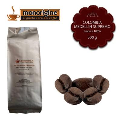 Caffè Arabica in grani Colombia Medellin Supremo - 500 gr