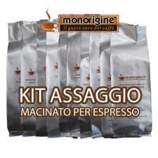 Kit assaggio 16 x 250 gr - caffè macinato per espresso