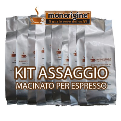 Kit assaggio 8 x 250 gr - caffè macinato per espresso