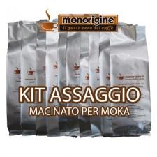 Kit assaggio 16 x 250 gr - caffè macinato per moka