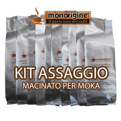 Kit assaggio 8 x 250 gr - caffè macinato per moka