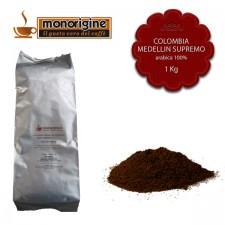 Caffè Arabica macinato per moka Colombia Medellin Supremo - 1 Kg