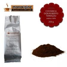 Caffè Arabica macinato per espresso Costarica Don Roberto Terrazu - 250 gr