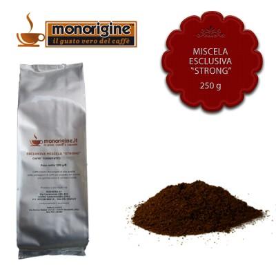 "Caffè macinato per moka Miscela esclusiva ""Strong"" - 250 gr"