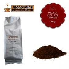 """Caffè macinato per espresso Miscela esclusiva """"Strong"""" - 500 gr"""