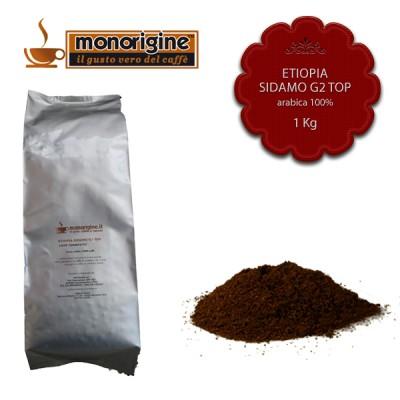 Caffè Arabica macinato per moka Etiopia Sidamo G2 Top - 1 Kg