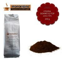 Caffè Arabica macinato per moka Etiopia Sidamo G2 Top - 250 gr
