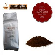 Caffè Arabica macinato per moka - Etiopia Sidamo G2 Top - 500 gr