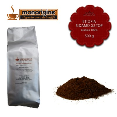 Caffè Arabica macinato per moka Etiopia Sidamo G2 Top - 500 gr
