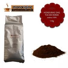 Caffè Arabica macinato per moka Honduras SHG Tucan Verde - 1 Kg