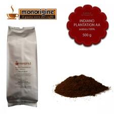 Caffè Arabica macinato per moka Indiano Plantation AA - 500 gr