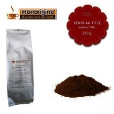 Caffè Arabica macinato per moka Kenya AA TOP - 250 gr