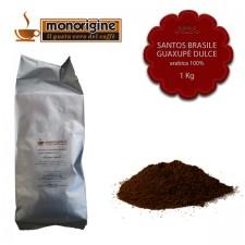 Caffè Arabica macinato per espresso Santos Brasile Guaxupè Dulce - 1 Kg